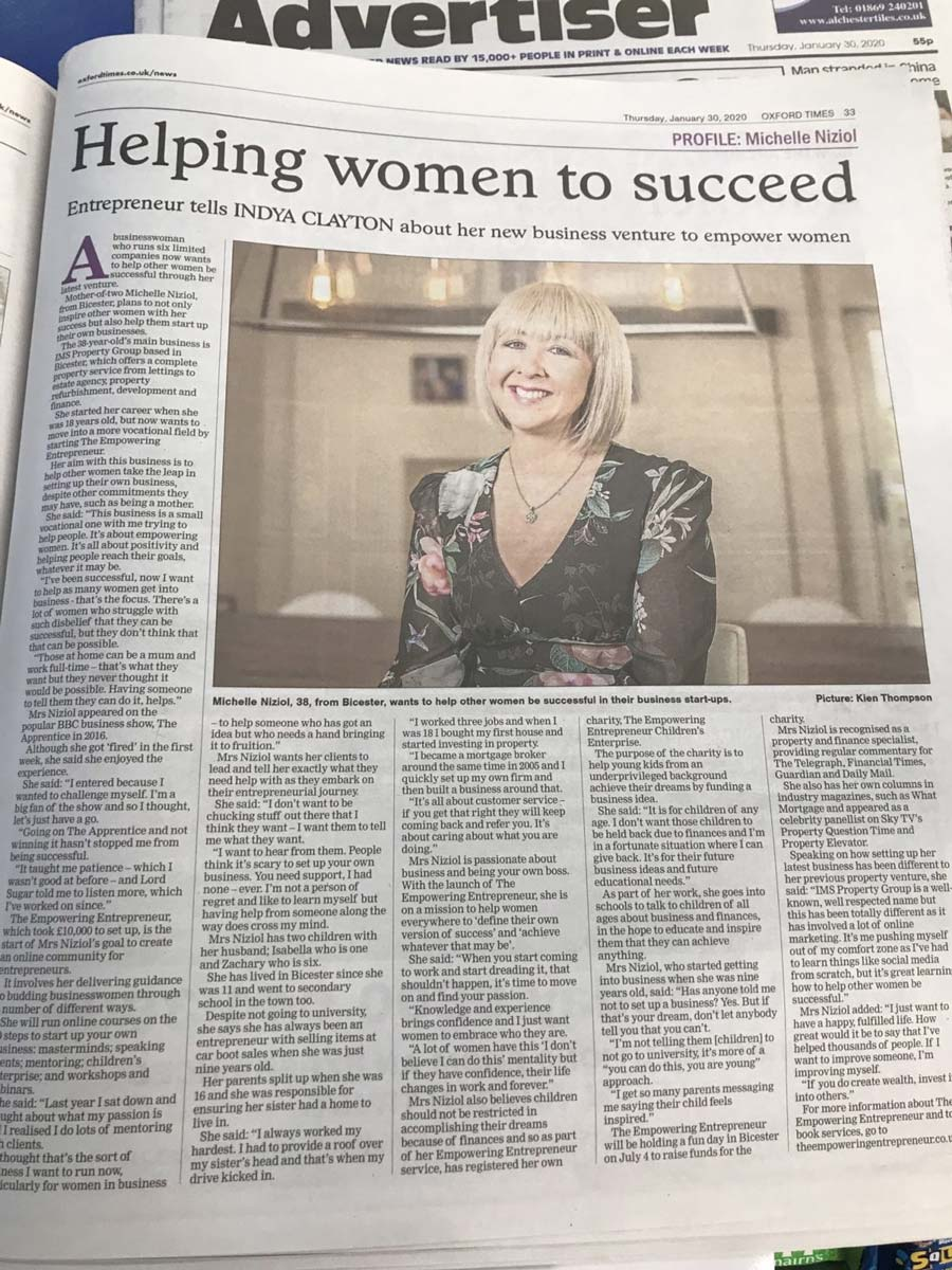 female entrepreneur oxford mail